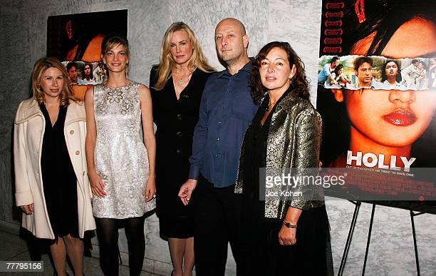 Producers Mandy Tagger and Adi Ezroni Actress Darryl Hannah Writer/Producer Guy Jacobson and Wendy Maguire arrive at the UN for the Screening of...