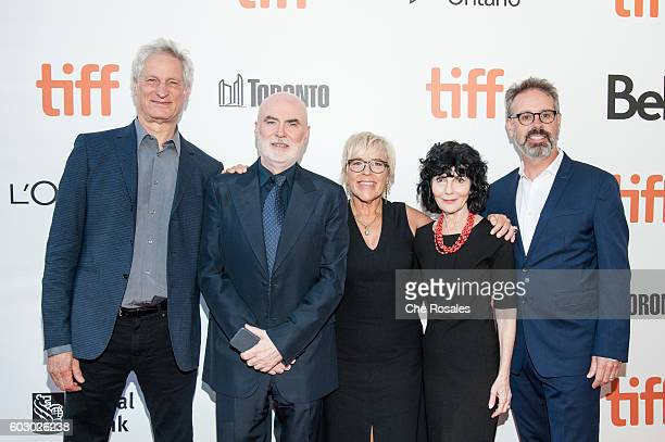 Producers Marc Turtletaub Ged Doherty Sarah Green Nancy Buirski and Peter Saraf attend the premiere of Loving during the 2016 Toronto International...