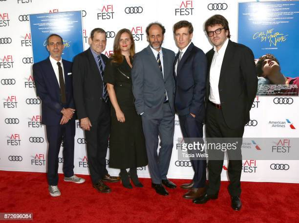 Producers Marco Morabito Howard Rosenman Emilie Georges director Luca Guadagnino producers Peter Spears and Rodrigo Teixeira at the screening of...