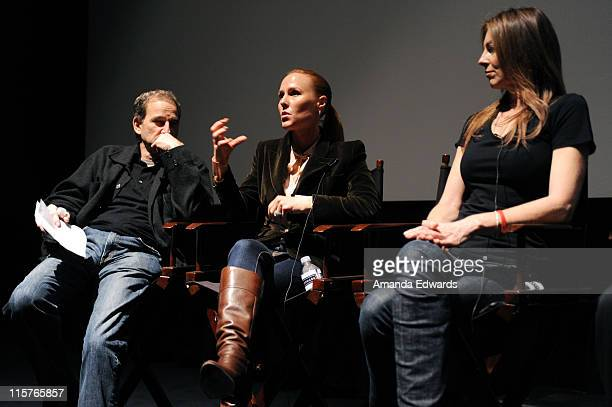 Producers Marshall Herskovitz Sarah SiegelMagness and Kathryn Bigelow participate in a Q A discussion at the Producers Guild Awards Nominees...