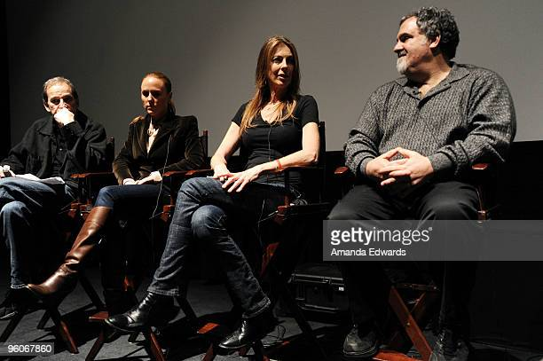 Producers Marshall Herskovitz Sarah SiegelMagness Kathryn Bigelow and Jon Landau participate in a Q A discussion at the Producers Guild Awards...