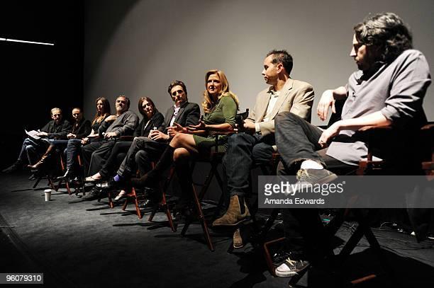 Producers Marshall Herskovitz Sarah SiegelMagness Kathryn Bigelow Jon Landau Finola Dwyer Lawrence Bender Lori McCreary Jonas Rivera and Jason...