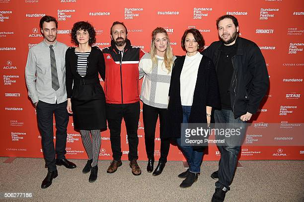 Producers Martin Heisler Gabriele Simon Alex Turtletaub Sara Murphy Adele Romanski and Michael Clark attend the Morris From America Premiere during...