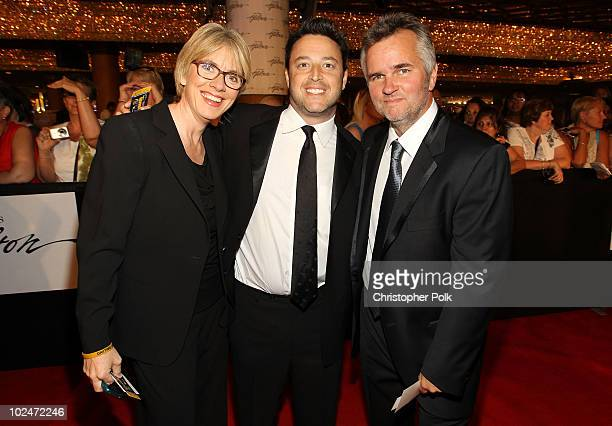Producers Mary Connelly Ed Glavin and Andy Lassner arrive at the 37th Annual Daytime Entertainment Emmy Awards held at the Las Vegas Hilton on June...