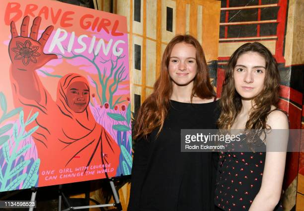 Producers Mason Maxam and Margaret Brown attend Girl Rising and International Rescue Committee's special screening of Documentary Film Brave Girl...