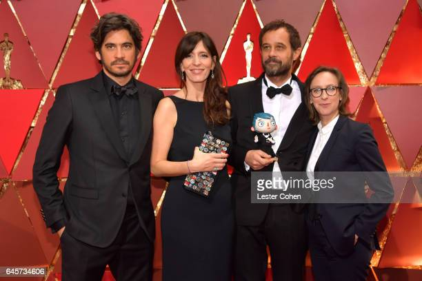 Producers Max Karli Armelle Glorennec director Claude Barras and screenwriter Celine Sciamma attends the 89th Annual Academy Awards at Hollywood...