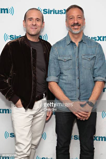 Producers Max Mutchnick and David Kohan take part in SiriusXM's 'Town Hall' with the cast of 'Will Grace' hosted by Andy Cohen on September 25 2017...