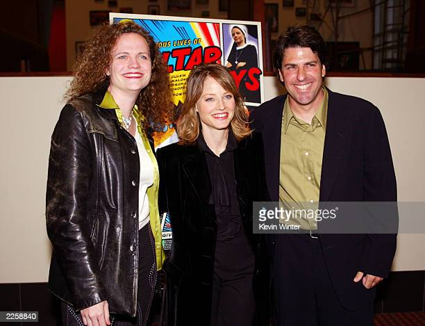 Producers Meg LeFauve Jodie Foster and Jay Shapiro at the premiere of The Dangerous Lives of Altar Boys at the Arclight Hollywood in Los Angeles Ca...