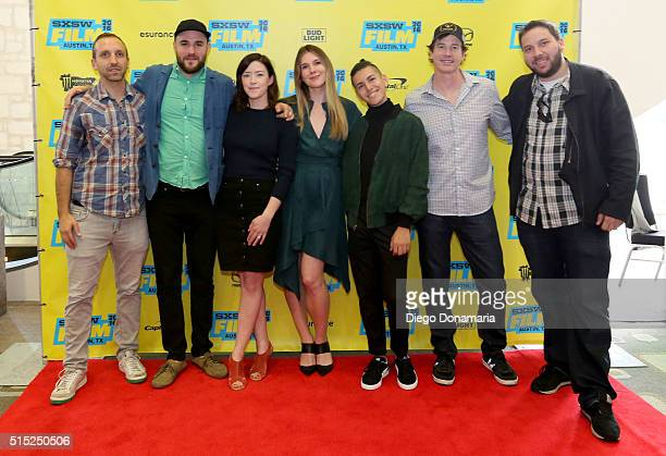 Producers Michael B Clark Jordan Horowitz writer/director Julia Hart actors Lily Rabe Anthony Quintal Rob Huebel and producer Alex Turtletaub attend...