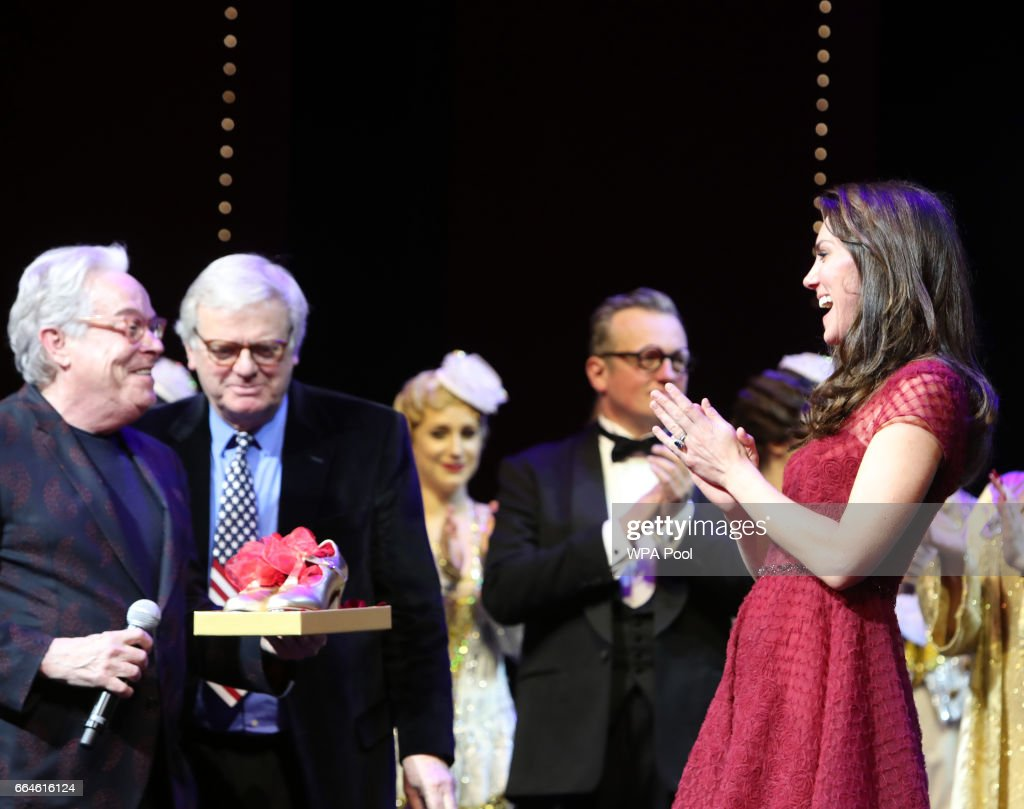 """The Duchess Of Cambridge Attends The Opening Night Of """"42nd Street"""" In Aid Of The East Anglia Children's Hospice : News Photo"""