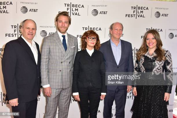 Producers Michael Kantor and Adam Haggiag actress Susan Sarandon Doren Weber and director Alexander Dean attend the 2017 Tribeca Film Festival...