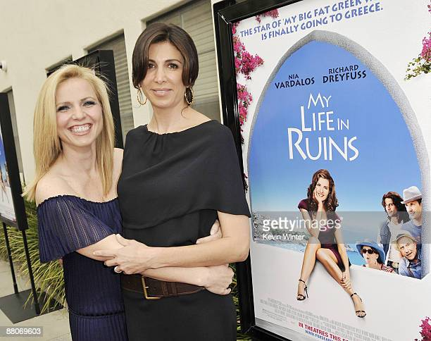 Producers Michelle Chydzik and Nathalie Marciano pose at the premiere of Fox Searchlight's My Life in Ruins at the Zanuck Theater on May 29 2009 in...