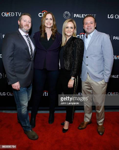 Producers Miles Kahn Alison Camillo and Pat King are joined by Samantha Bee during the PaleyFest NY 2017 'Full Frontal with Samantha Bee' at The...