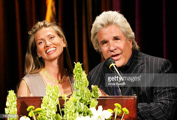 Producers Mindy and Jon Peters speak at the Los Angeles County Sheriff's Youth Foundation's annual Salute To Youth benefit dinner honoring them on...