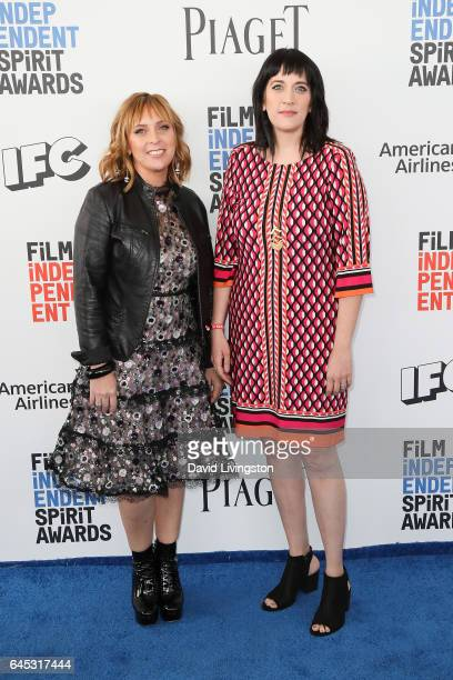 Producers Miranda Bailey and Amanda Marshall attend the 2017 Film Independent Spirit Awards on February 25 2017 in Santa Monica California