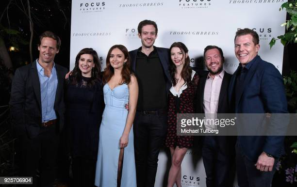 Producers Nat Faxon and Alex Sachs actress Olivias Cooke director Cory Finley actress Anya TaylorJoy and producers Kevin J Walsh and Ryan Stowell...