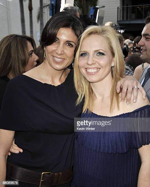 Producers Nathalie Marciano and Michelle Chydzik pose at the premiere of Fox Searchlight's My Life in Ruins at the Zanuck Theater on May 29 2009 in...