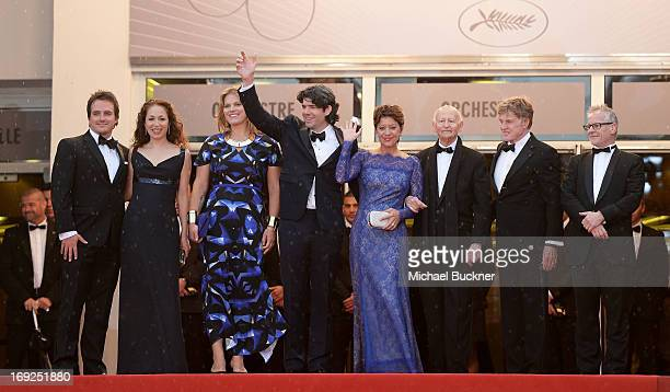 Producers Neal Dodson and Anna Gerb Mary Cameron Goodyear director J C Chandor Sibylle Szaggars Chairman of the Cannes Film Festival Gilles Jacob...