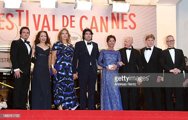 Producers Neal Dodson Anna Gerb Mary Cameron Goodyear director J C Chandor Sibylle Szaggars Chairman of the Cannes Film Festival Gilles Jacob Robert...