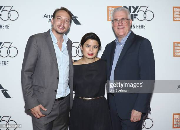 Producers Nicolas Celis Gabriela Rodriguez and executive producer David Linde attend the 56th New York Film Festival premiere of ROMA at Alice Tully...