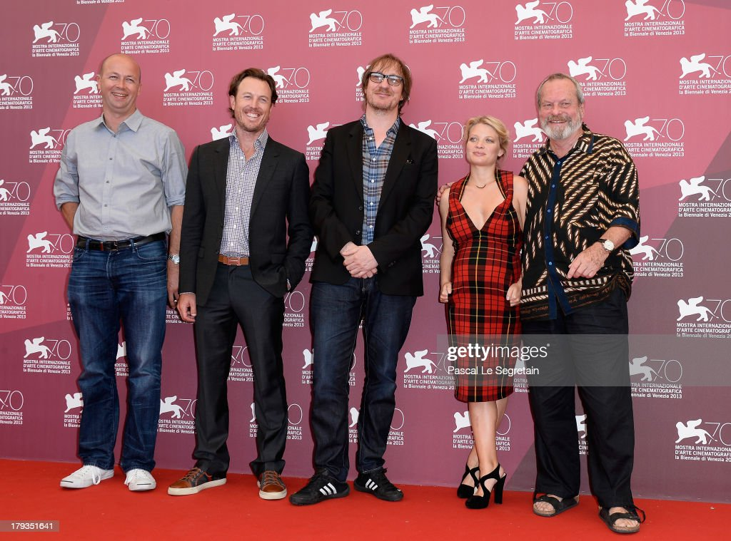 Producers Nicolas Chartier and Dean Zanuck, actors David Thewlis, Melanie Thierry and director Terry Gilliam attend 'The Zero Theorem' Photocall during the 70th Venice International Film Festival at the Palazzo del Casino on September 2, 2013 in Venice, Italy.