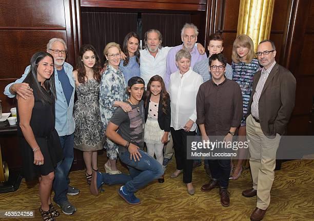 Producers Nikki Silver and Neil Koenigsberg actors Odeya Rush Meryl Streep Katie Holmes and Jeff Bridges director Phillip Noyce actor Cameron...