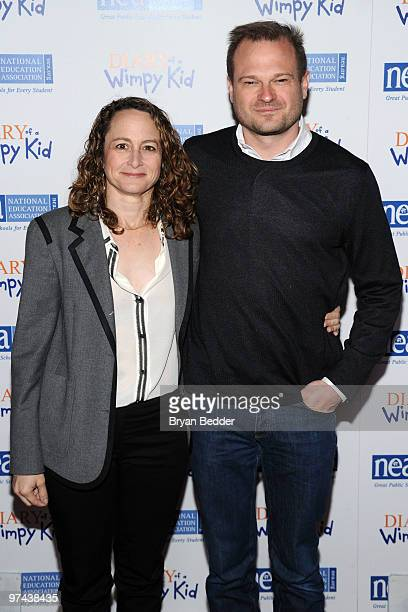 Producers Nina Jacobson and Brad Simpson attend the premiere of Diary Of A Wimpy Kid at the Ziegfeld Theatre on March 4 2010 in New York City