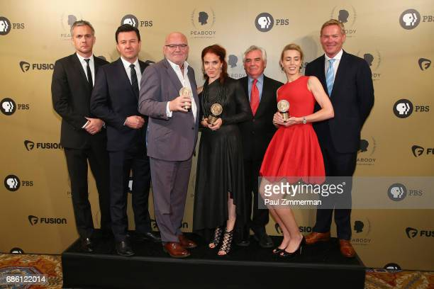 Producers of CNN Coverage ISIS in Iraq and Syria Undercover Syria and Battle for Mosul pose backstage during The 76th Annual Peabody Awards Ceremony...