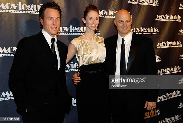 Producers of Get Low Dean Zanuck and Joey Rappa arrive at the 19th Annual Movieguide Awards Gala at Universal Hilton Hotel on February 18 2011 in...