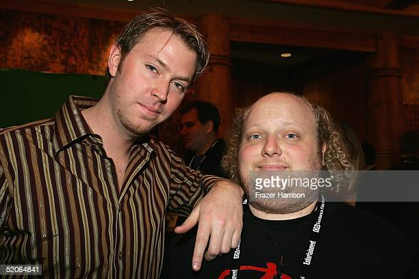 """Producers of """"Napoleon Dynamite"""" Sean Covell and Chris Wyatt attend the Variety 6th Annual """"10 Directors To Watch"""" party during the 2005 Sundance..."""