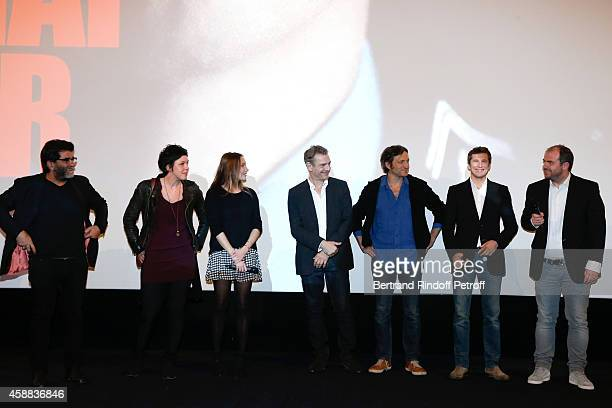 Producers of the movie Alain Attal Anne Rapczyk actors of the movie Ana Girardot guest guest Guillaume Canet and director of the movie Cedric Anger...