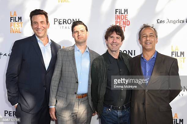 Producers Orien Richman Adam Tenenbaum Executive Producer Mike Nelson and Producer/CEO/founder of Branded Pictures Entertainment J Todd Harris attend...