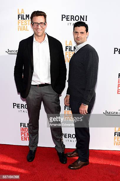 Producers Orien Richman and Adam Tenenbaum attend the premiere of Lowriders during opening night of the 2016 Los Angeles Film Festival at ArcLight...