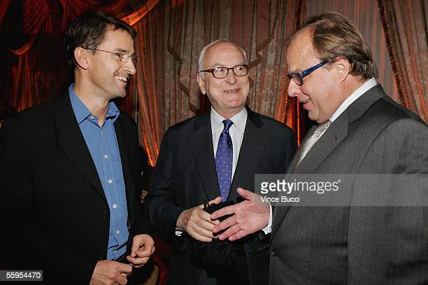 Producers Paul Bradley and Richard Hawley and director James Ivory attend the after party for the US premiere of the film The White Countess on...