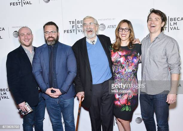 Producers Peter Pastorelli and Eddie Rubin actor Martin Landau producer Tamar Sela director Dr Howard Weiner and producer Marshall Johnson attend the...