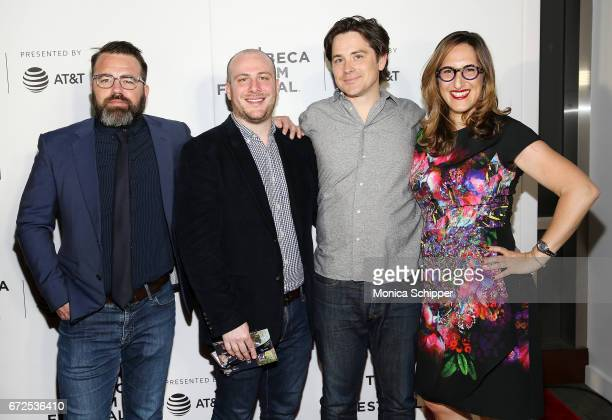Producers Peter Pastorelli Eddie Rubin Marshall Johnson and Tamar Sela attend the premiere of The Last Poker Game during the 2017 Tribeca Film...
