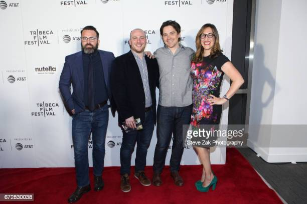 Producers Peter Pastorelli Eddie Rubin Marshall Johnson and Tamar Sela attend the screening of The Last Poker Game during the 2017 Tribeca Film...