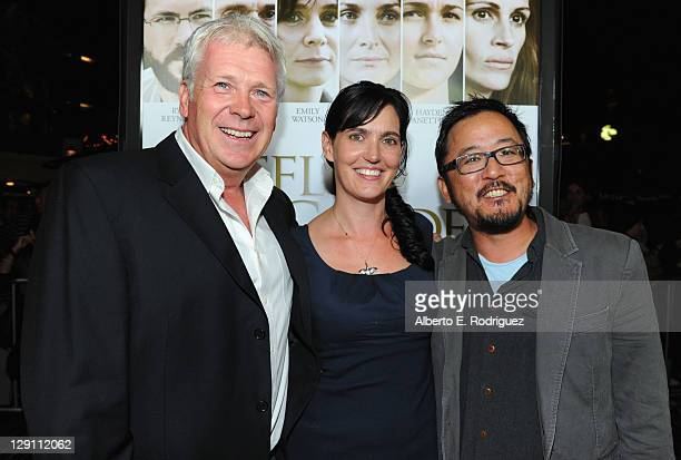 Producers Philip Rose Vanessa Coifman and Writer/Director Dennis Lee arrive at the Fireflies In The Garden Premiere at Pacific Theaters at the Grove...