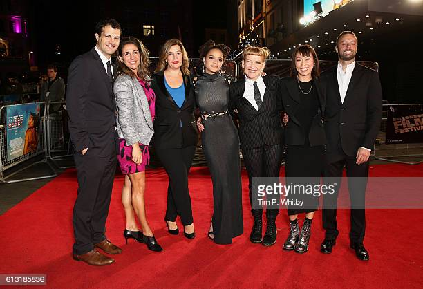 Producers Pouya Shahbazian Melissa Hook and Alice Weinberg actress Sasha Lane director Andrea Arnold and producers Julia Oh and Lars Knudsen attend...