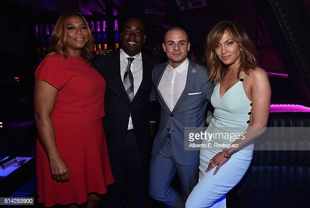 Producers Queen Latifah, Shakim Compere, actors Beau Casper Smart and Jennifer Lopez attend the after party for the premiere of Lionsgate's 'The...