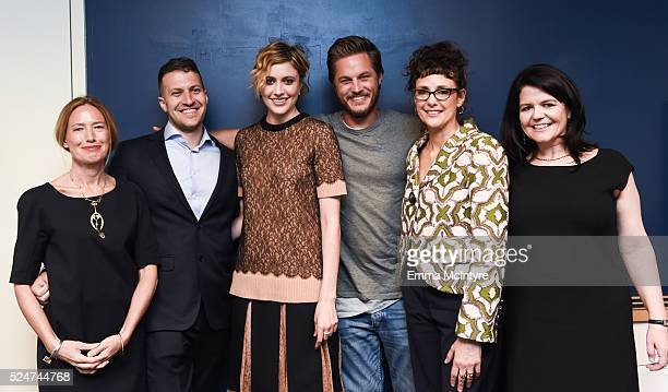 Producers Rachel Horovitz Damon Cardasis actors Greta Gerwig and Travis Fimmel director/writer/producer Rebecca Miller and producer Lucy Barzun...