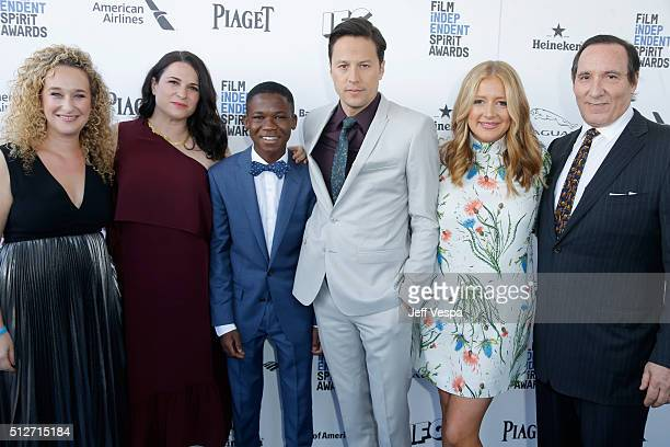 Producers Riva Marker Amy Kaufman actor Abraham Attah director Cary Fukunaga and producers Daniela Taplin Lundberg and Daniel Crown attend the 2016...