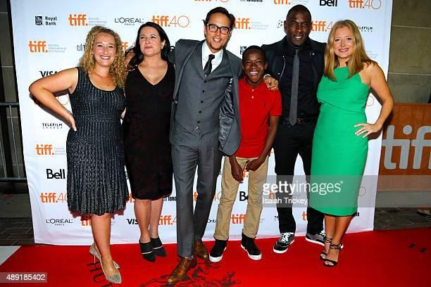 Producers Riva Marker Amy Kaufman director/screenwriter Cary Joji Fukunaga actors Abraham Attah Idris Elba and producer Daniela Taplin Lundberg...