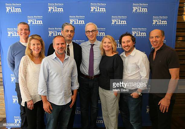 Producers Robert Lorenz of 'American Sniper' Lisa Bruce of 'The Theory of Everything' Jeremy Dawson of 'The Grand Budapest Hotel' John Lesher of...