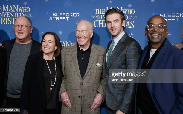 Producers Robert Mickelson and Paula Mazur join Actors Christopher Plummer Dan Stevens and director Bharat Nalluri attend 'The Man Who Invented...
