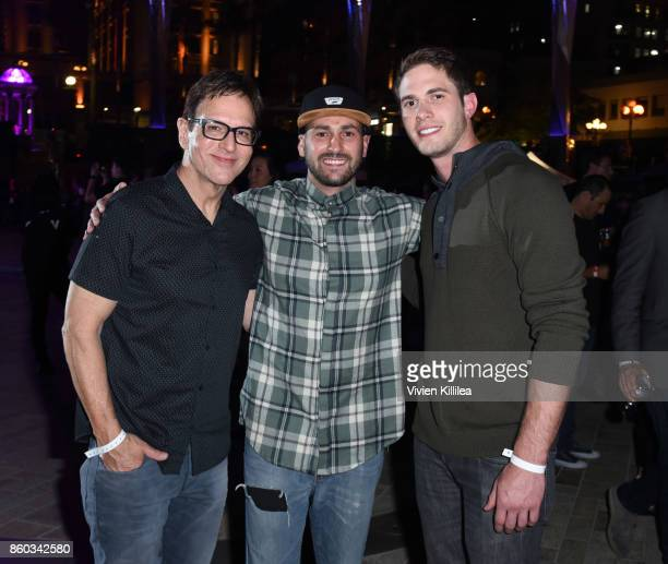 Producers Robert Ulrich and Mike Jenner and actor Blake Jenner attend Party with a Purpose during the San Diego International Film Festival 2017 on...