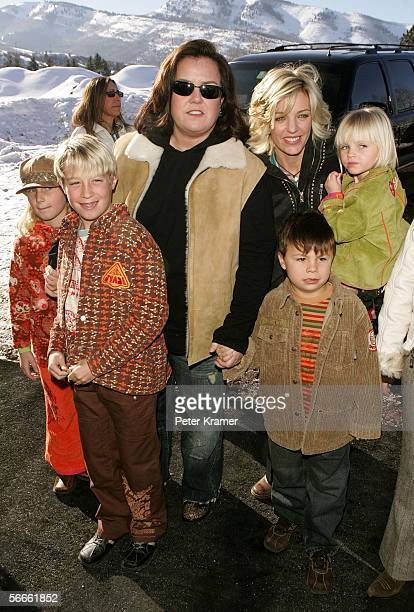 Producers Rosie O'Donnell Kelli O'Donnell and children attend the premiere of All Aboard Rosie's Family Cruise at the Eccles Theater during the 2006...