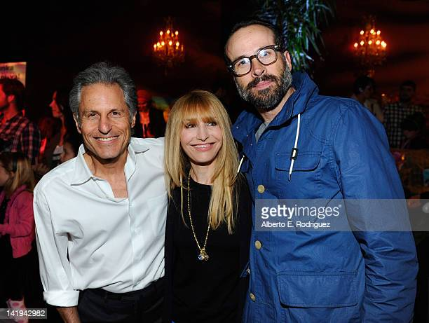 Producers Ross Bagdasarian Jr Janice Karman and actor Jason Lee attend Twentieth Century Fox Home Entertainment's Alvin and the Chipmunks Chipwrecked...