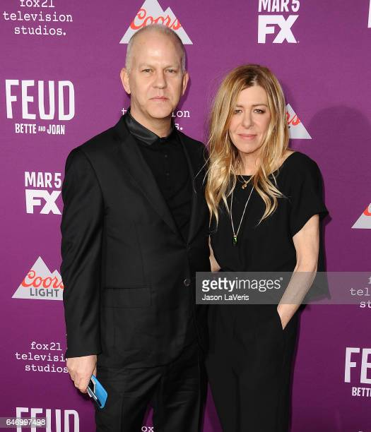 Producers Ryan Murphy and Dede Gardner attend the premiere of Feud Bette and Joan at TCL Chinese Theatre on March 1 2017 in Hollywood California