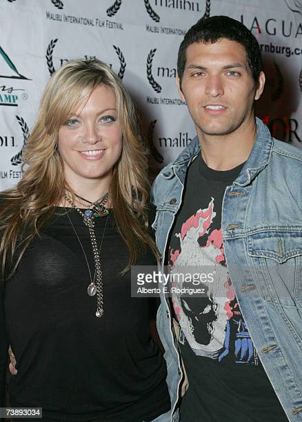 Producers Sabrina Gennarino and Pieter Gaspersz attend the opening night of the Malibu Film Festival on April 13 2007 in Los Angeles California